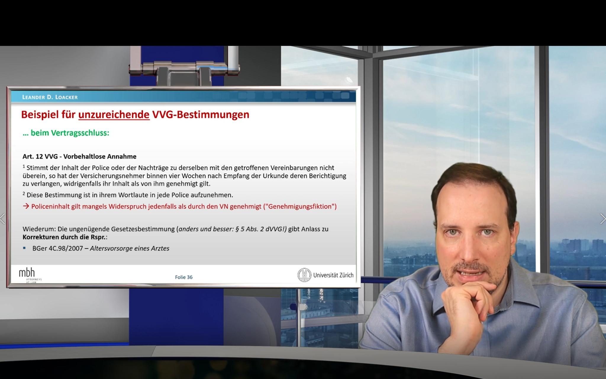 Prof. Loacker, VL Haftpflicht- und Versicherungsrecht